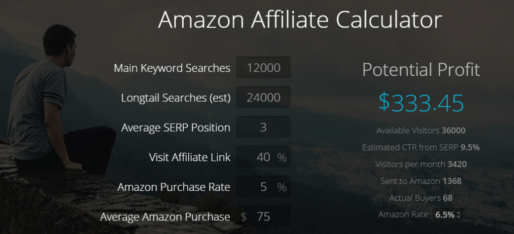 Amazon Affiliate Calculator